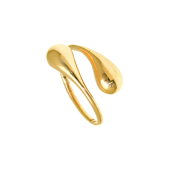 Ring silver 925 yellow gold plated - WANNA GLOW