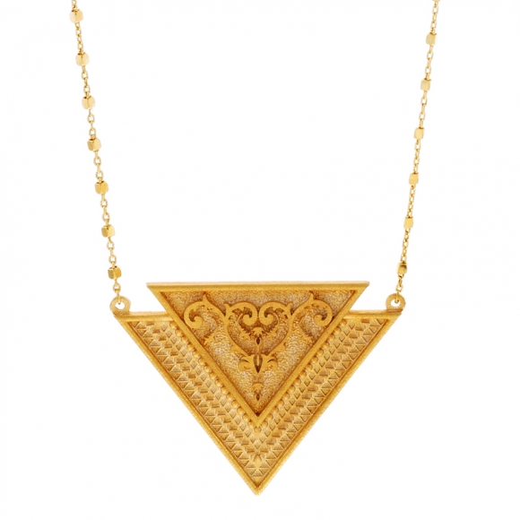 Necklace silver 925 yellow gold plated - Vassia Kostara for GREGIO