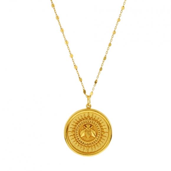 Κολιέ ασήμι 925 επιχρυσωμένο - Vassia Kostara for GREGIO