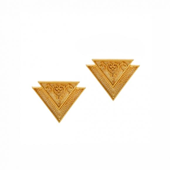 Σκουλαρίκια ασήμι 925 επιχρυσωμένο - Vassia Kostara for GREGIO