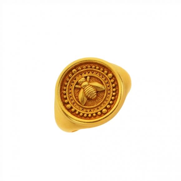 Ring silver 925 yellow gold plated - Vassia Kostara for GREGIO
