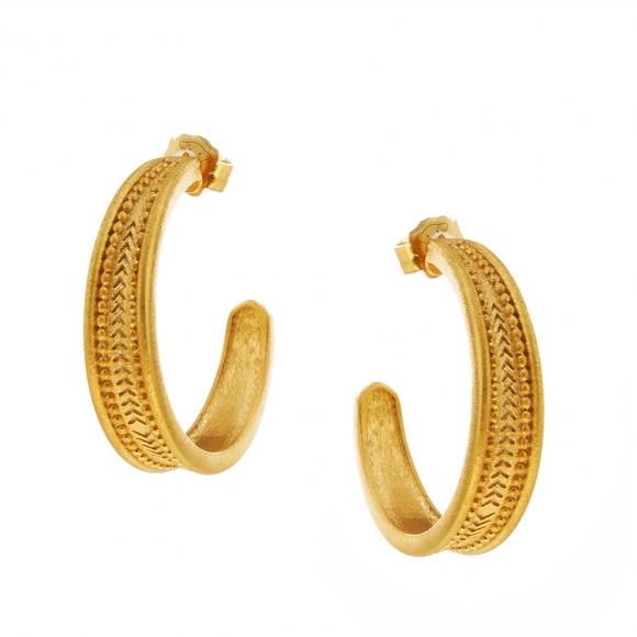 Earrings silver 925 yellow gold plated - Vassia Kostara for GREGIO