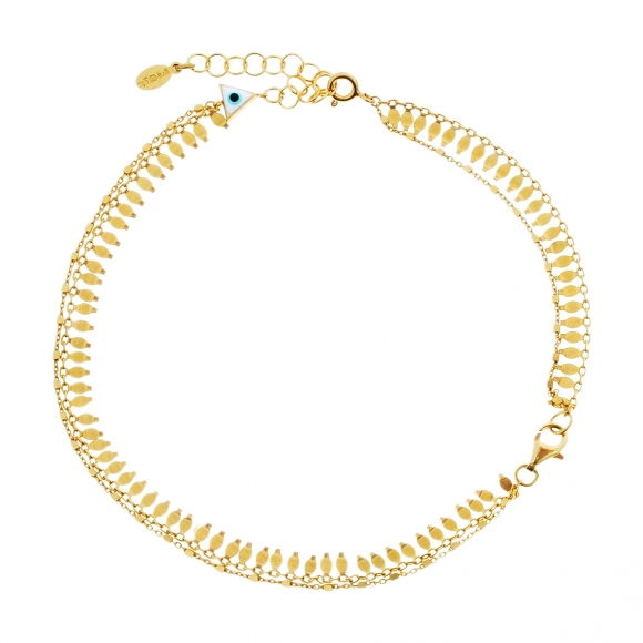 Bracelet silver 925 yellow gold plated with extension for the feet - Vassia Kostara for GREGIO