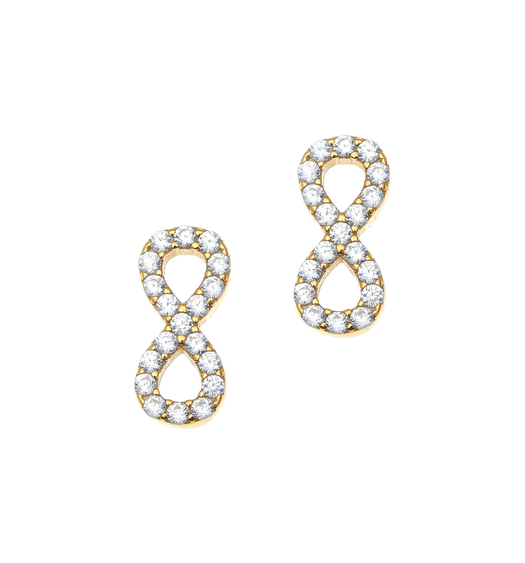 hoop earrings finish white gold plated cz silver sterling pin