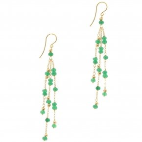 Earrings silver 925, pink gold plated and crystals - Rosario