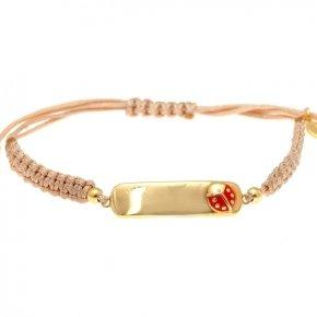 Cord bracelet silver 925, gold plated - Genesis Jewellery