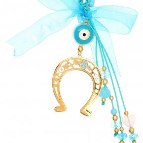 Lucky charm silver 925 yellow gold plated with enamel - Genesis Charms