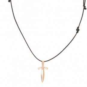 Cord Necklace in silver 925 pink gold plated - Apopsis