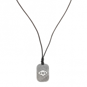 Necklace silver 925 , 90 cm with adjustable length and black rhodium - Apopsis