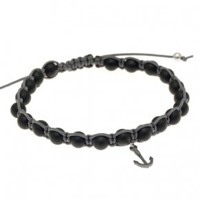Bracelet in silver 925, black rhodium plated withonyx - Apopsis