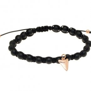 Bracelet in silver 925 pink gold plated with onyx - Apopsis