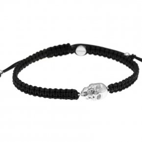 Cord Bracelet in silver 925, rhodium plated - Apopsis