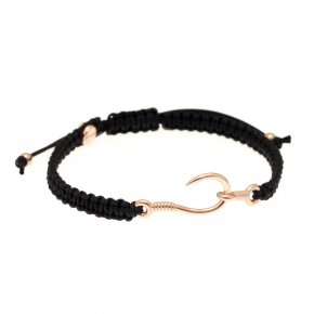 Cord Bracelet in silver 925, pink gold plated - Apopsis