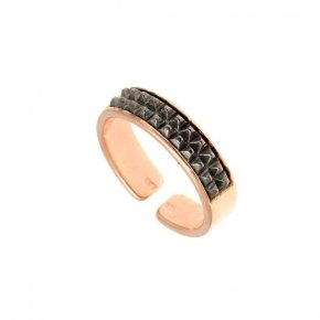 Ring Silver 925 pink gold plated - Apopsis