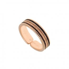 Ring Silver 925, pink gold plated - Apopsis