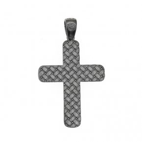 Pendant in silver 925, black rhodium plated - Apopsis
