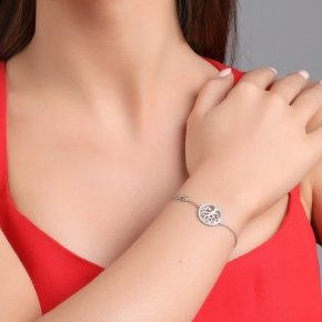 Bracelet in silver 925 rhodium plated with white zirconia - Zoe