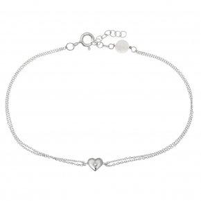 Bracelet in white gold 14 carats with white diamonds tw 0,01 ct - MINI