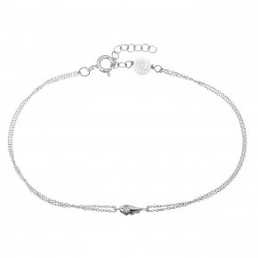 Bracelet in white gold 14 carats with white diamonds tw 0,01 ct - MINI