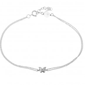 Bracelet white gold K14 with white diamonds tw 0,01ct - MINI