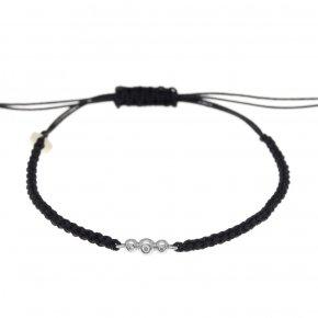 Cord Bracelet in white gold 14 carats and white diamondstw 0,022 ct - CLASSICS