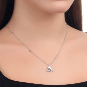 Necklace silver 925 40 cm (with 5cm exte) - Origami