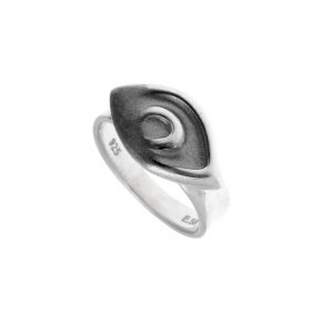 Ring Silver 925 black and white rhodium plated - METALLO