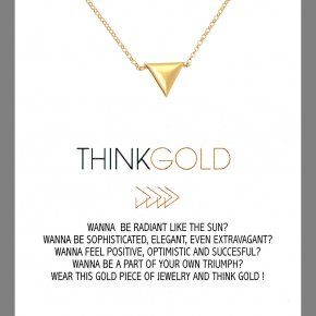 Necklace in silver 925, gold plated - Gregio Wishes