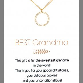 Necklace in silver 925 gold plated with white zirconia - Gregio Wishes
