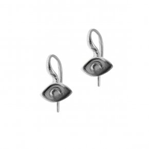 Earrings in silver 925 rhodium and black rhodium plated - METALLO