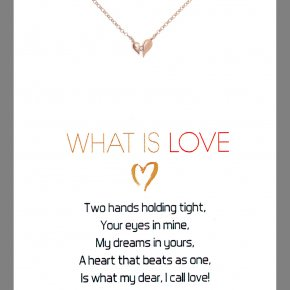 Necklace in silver 925 pink gold plated with white zirconia - Gregio Wishes