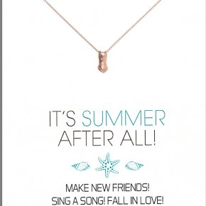 Necklace in silver 925, pink gold plated - Gregio Wishes