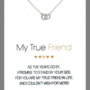 Necklace in silver 925 rhodium plated - Gregio Wishes