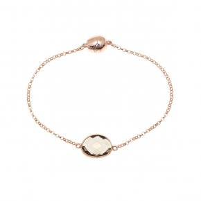 Bracelet out of metal pink gold plated with crystal and magnetic clasp. - My Gregio