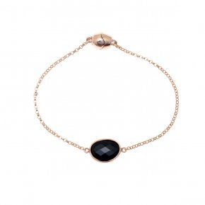Bracelet out of metal pink gold plated with crystal andmagnetic clasp. - My Gregio