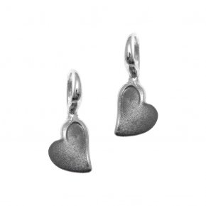 Earrings silver 925 pink gold and black rhodium plated - METALLO