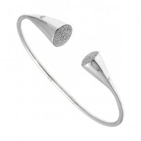 Bracelet silver 925 rhodium plated with white zirconia - Abyssos