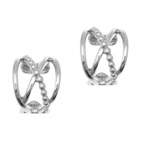 Earrings silver 925, rhodium plated - Echo