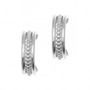 Earrings in silver 925, rhodium plated - Echo