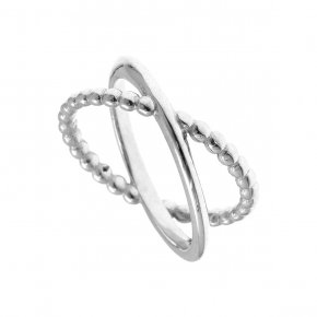 Ring Silver 925, rhodium plated - Echo