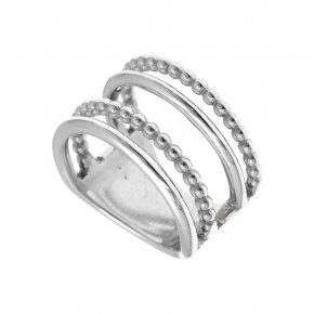 Ring Silver 925 rhodium plated - Echo