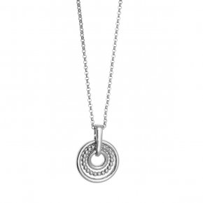 Necklace in silver 925, rhodium plated - Echo