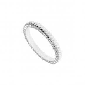 Ring Silver 925, rhodium plated - Echo