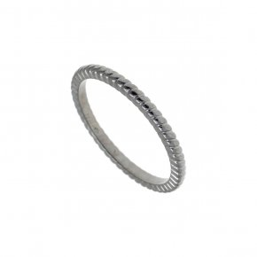 Ring Silver 925 black rhodium plated - Echo