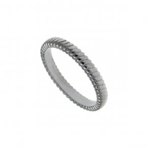 Ring Silver 925, black rhodium plated - Echo