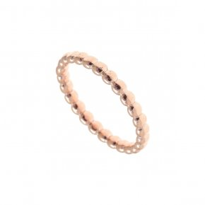 Ring Silver 925 pink gold plated - Echo