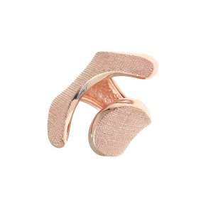 Ring Silver 925, pink gold plated - Kyma