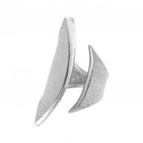 Ring Silver 925, rhodium plated - Kyma