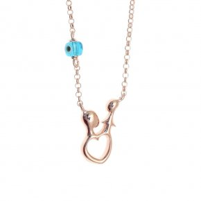 Necklace in silver 925, pink gold plated - Genesis Jewellery