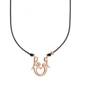 Cord Necklace, silver 925 pink gold plated - Genesis Jewellery